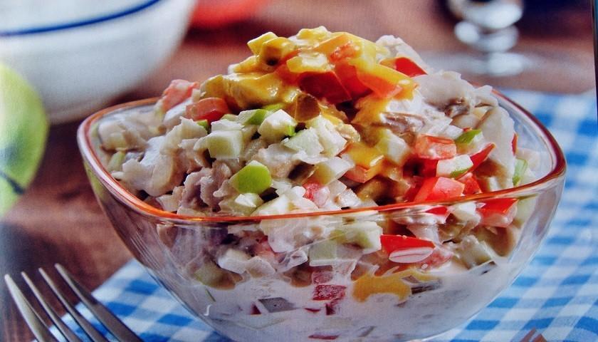 Масленица - салат из рыбы