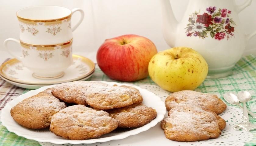 Творожно — яблочное печенье