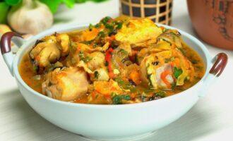 Чахохбили - рагу из птицы, тушеное с овощами