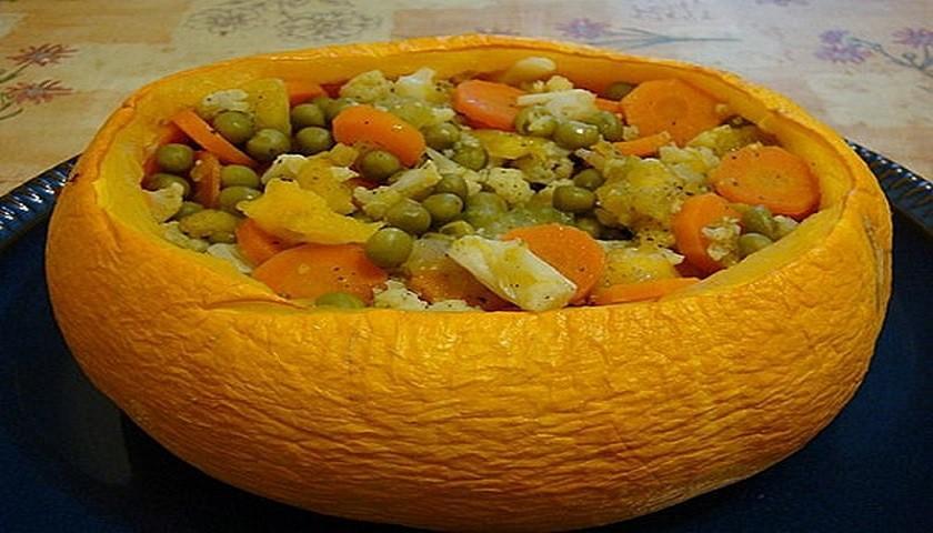Рецепт овощного рагу в тыкве