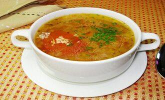 Суп с крупой и овощами
