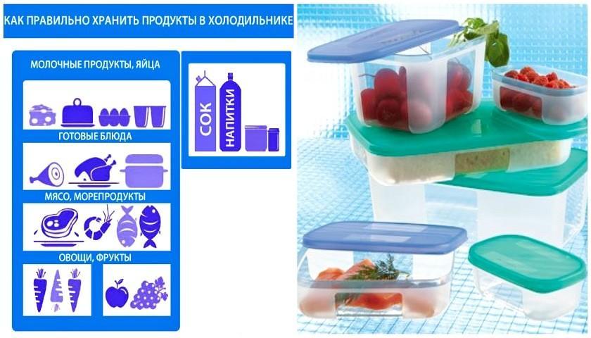 Условия и способы хранения продуктов