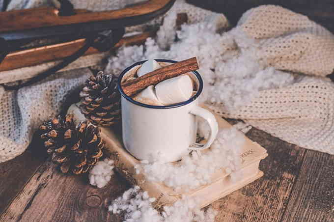 Зимний бодрящий кофе