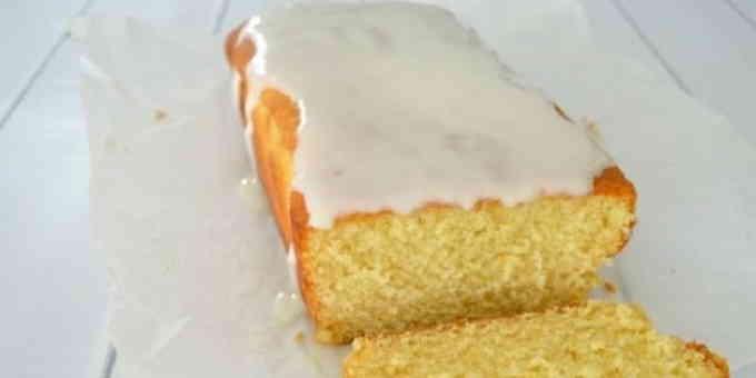 Лимонный бисквит с глазурью