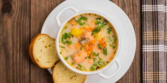 Норвежский сливочный суп с сёмгой