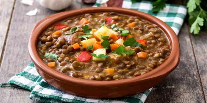 Постные рецепты - пряный чечевичный суп