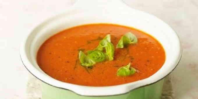 Постные рецепты - томатный суп с базиликом