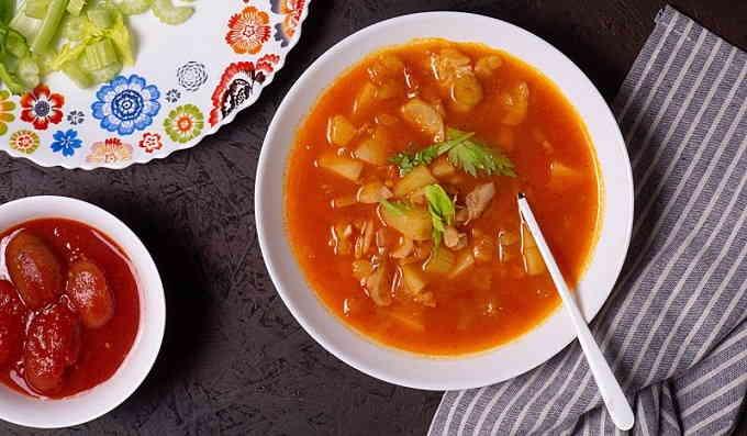 Суп из рыбы с помидорами