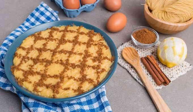 Что приготовить из спагетти - сладкая запеканка