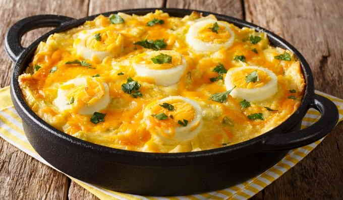 Яйца англси, запечённые в духовке