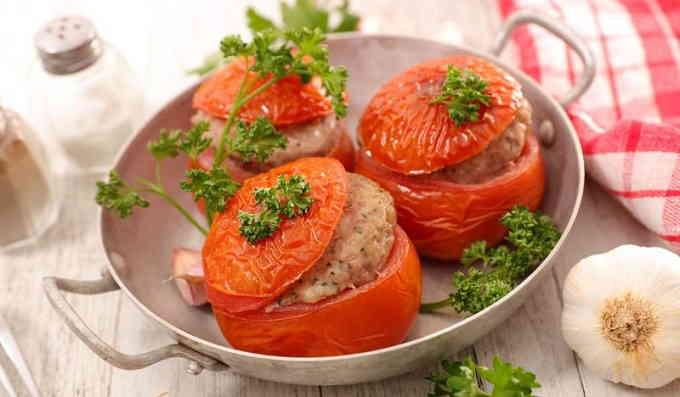 Помидоры, фаршированные мясом
