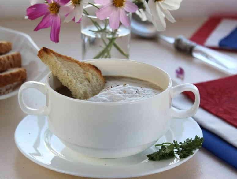 Рецепт супа — капуччино из шампиньонов