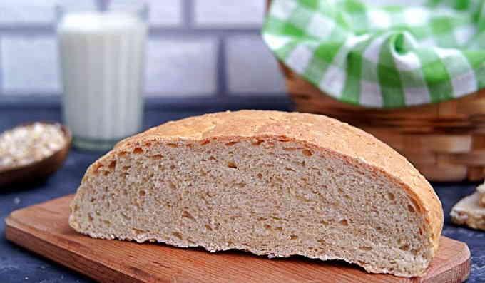 Домашний хлеб с овсяными хлопьями